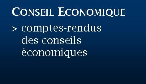Bouton conseil économique comptes rendus