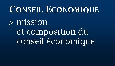 Bouton conseil économique