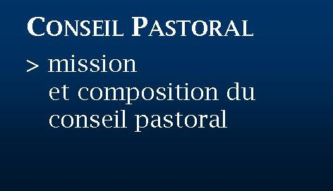 Bouton conseil pastoral