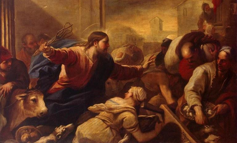 expulsion des marchands du temple Lucas Giordano e1331134418419