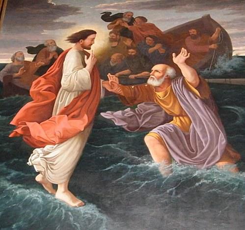 Jésus marchant sur l'eau