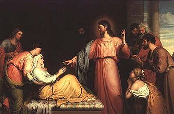 John Bridges Christ healing the mother of Simon Peter