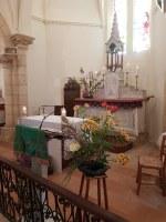 Bénédiction à l'église de St SEURIN de CURSAC